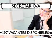 197 ofertas de trabajo de SECRETARIO/A encontradas