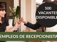 VACANTES DE EMPLEO DE RECEPCIONISTA