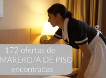 172 ofertas de trabajo de CAMARERO/A DE PISOS encontradas