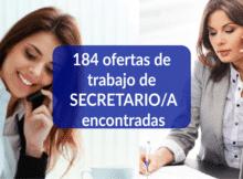 184 ofertas de trabajo de Secretario/a encontradas