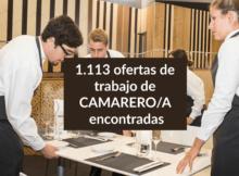 1.113 ofertas de trabajo de CAMARERO/A encontradas