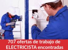 707 ofertas de trabajo de ELECTRICISTA encontradas